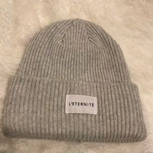 L'Eternite H&M  divided winter hat beanie gray